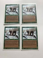 4x Vintage Playset GRIZZLY BEARS  MTG Revised Magic the Gathering