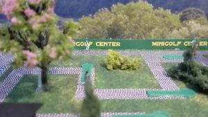 Minigolf Anlage    Spur N 1:160   Bausatz   Golf   Golfanlage mit Kiosk