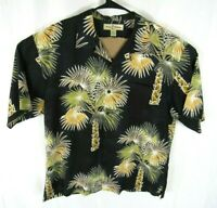 Tommy Bahama Hawaiian Shirt Mens Large Button Up Short Sleeve Floral Silk