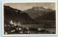 Switzerland Glion Montreux La Plaine de Rhone Midi Vintage Photo Postcard A91