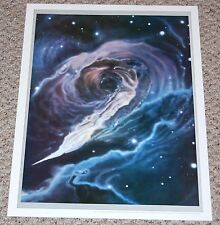 Black Hole Space Art Poster 1977 Mark Paternostro commission Astronomy Magazine