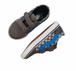 VANS Checkerboard Old Skool V Kids' Sneaker Pewter/ Neutral Gray Toddler Size 10