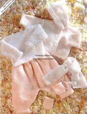 (682) Knitting Pattern for Baby 6-Piece Garter Layette, Easy/ Beginners, 14-20''