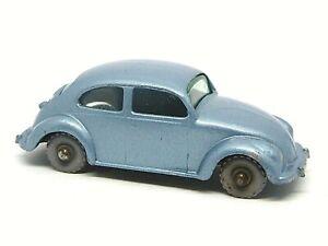 Matchbox Lesney 25b Volkswagen Beetle (GREY PLASTIC WHEELS)