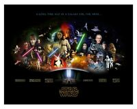 Star Wars History - Top Classic Fantasy Space Movie Wall Art Canvas Pictures