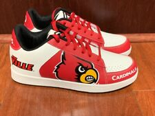 LOUISVILLE CARDINALS ALLCARDINALS MEN'S SNEAKERS; SIZE 9; WHITE/RED/BLACK