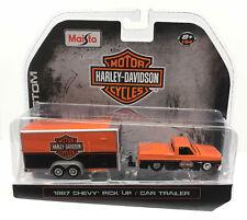 Maisto HARLEY DAVIDSON 87 Chevy Silverado & Trailer 1987 Chevrolet