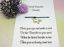Blue Unicorn Wish Bracelet Friends Gift Enamel Charm Anklet Friendship Birthday