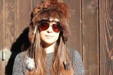 Alpaca FUR Earflap Hat-Tamaño Adulto Med 87c9eac964a