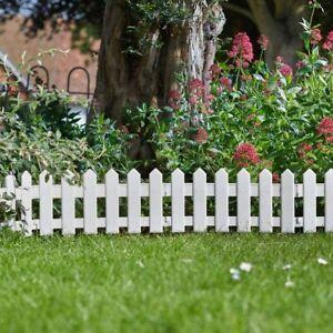 Flexible Garden Lawn Grass Edging Picket Border Panel Wooden Effect Wall Fence