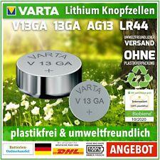 Varta Alkaline Knopfzelle V13GA 13GA AG13 LR44  Umweltfreundlich & Plalastikfrei
