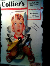 Closeout Sale Collier's Cover art Space Kid Poster in 3-D Vintage 11x17