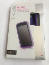 New T-Mobile D30 Purple TPU Gel Rubber Case Flex Skin Cover For LG MyTouch E739