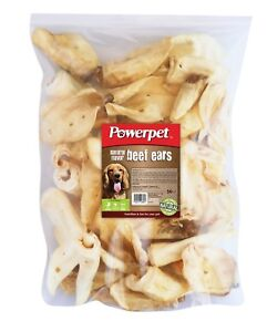 All Natural Beef Cow Ears DOG Treats 100 count Natural Flavor