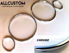 CHROM TACHO RINGE TACHORINGE CLIPSEN DIAL-RINGS für BMW E30 3 SERIE 1982-1991 M3