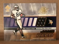 Jake Reed 2001 Pacific Private Stock Game Worn Gear Jersey Card #92 Vikings NFL