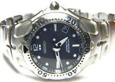 mens Seiko Kinetic Auto Relay Diver Calendar Date dress watch model # 5J22-0A50