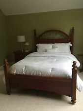 Used 3 Piece Stanley Furniture Bedroom Set Full Size Bed Frame With Nightstand