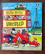 Richard Scarry's BUSY BUSY WORLD Unabridged Hardcover Vintage 1979