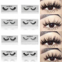 Fashion Real 3D Mink Soft Long Natural Makeup Eye Lashes Thick False Eyelash Bs