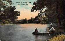 Indiana Pennsylvania Boating on Yellow Creek Scenic View Postcard J49856