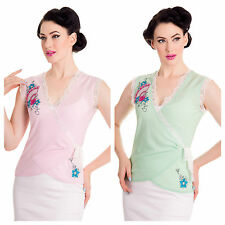 Polyester Waist Length Wrap Tops for Women