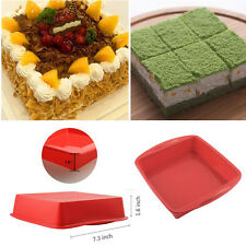 Silicone Mold Big Square Cake Pan Bread Muffin Chocolate Pizza Baking Tray Mould