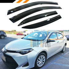 JDM WAVY 3D STYLE SMOKED WINDOW VISOR VENT SHADE FOR 2014-2019 TOYOTA COROLLA