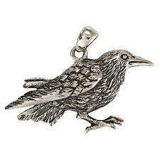 Sterling Silver Raven Crow Avian Corvid Animal Bird Totem Pendant Jewelry