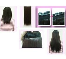 "dark brown 5 clips one piece wavy curly 22"" long clip in on hair extension"