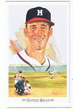 Warren Spahn Perez Steele Postcard Milwaukee Braves