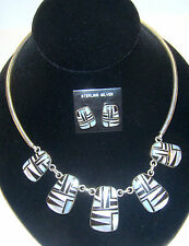 Navajo Necklace & Earrings Set by AK Mother of Pearl - Stunning