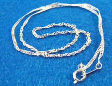 """3Pcs. Tibetan NECKLACE Chains 16""""  Silver-Plated 1mm Twist Look Findings N05"""