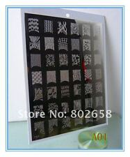 Plaque stamping XL XXL 21x16cms rectangulaire ongle nail art deco sans tampon