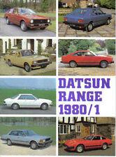 Datsun Cherry Sunny Violet Bluebird Laurel Skyline 280C 280ZX 1980-81 Brochure