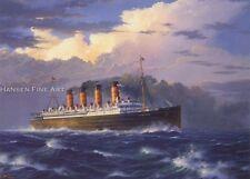 RMS Mauretania Cunard Ocean Liner Cruise Ship Blue Riband Birthday Card