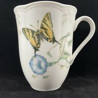 "LENOX Butterfly Meadow Swallowtail Tea/Coffee Mug bone china 4.25"" H Made in U.S"