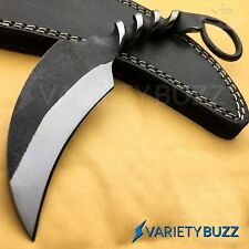 Hand Made Forged Railroad Spike Karambit Carbon Steel Fixed Blade Hunting Knife