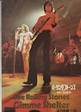 GIMME SHELTER THE ROLLING STONES Japanese movie program 1970 KEITH RICHARDS