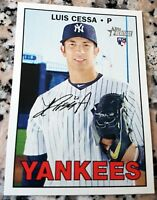 LUIS CESSA 2016 Topps Heritage Rookie Card RC Logo LOT New York Yankees Mexico $