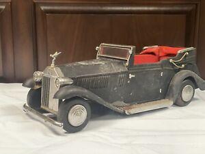 Vintage Rolls Royce Convertible Car Musical NO Liquor Decanter & 4 Shot Glasses