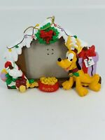 Disney Pluto Doghouse Picture Frame Holiday Ornament
