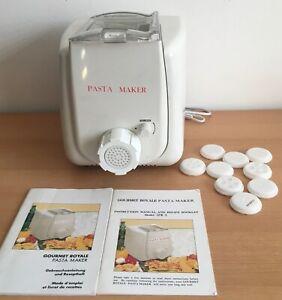 elektrische Nudelmaschine mit 10 Matritzen - Gourmet Royale Pasta Maker