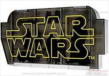 STAR WARS ~ vitrine par takara tomy 80 mm x 180 mm x 65 mm étagères réglables
