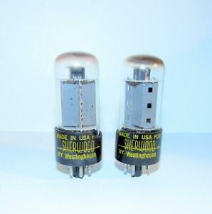 Pair-1961 Westinghouse 7591 power amplifier tubes. TV-7 test strong.