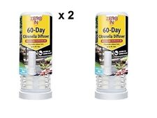 2x Citronella 60 Day Fly Insect Diffuser Catcher Pest Bug Wasp Ants Moth