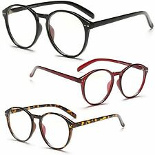 Geek Rerd Vintage Clear Lens Keyhole Fashion Large Oval Frame Glasses