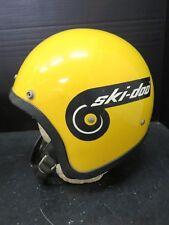 Vintage Yellow w/ Black Stripe Ski-Doo LSI 4150 Motorcycle Helmet Very Good Cond