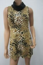 *NWT* ARYEH  SEXY CUTE Cowl Neck Tiger Print Sweater  Stretch Dress Sz Small