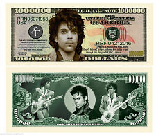 PRINCE BILLET COMMEMORATIF MILLION DOLLAR US! LOVE SYMBOL Funk Purple Rain Cloud
